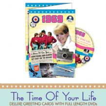 1960 to 1969  The time of your life DVD Greeting Card.